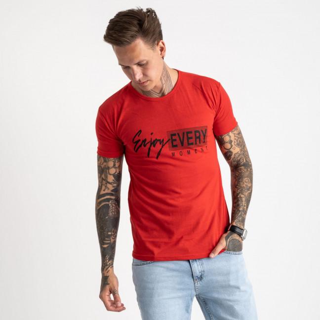 2616-3 красная футболка мужская с принтом (4 ед. размеры: M.L.XL.2XL) Футболка: артикул 1121024