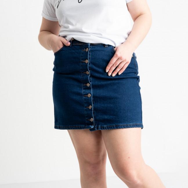 41093-011 Arox юбка полубатальная синяя стрейчевая (2 ед. размеры: 40.42) Arox: артикул 1119985