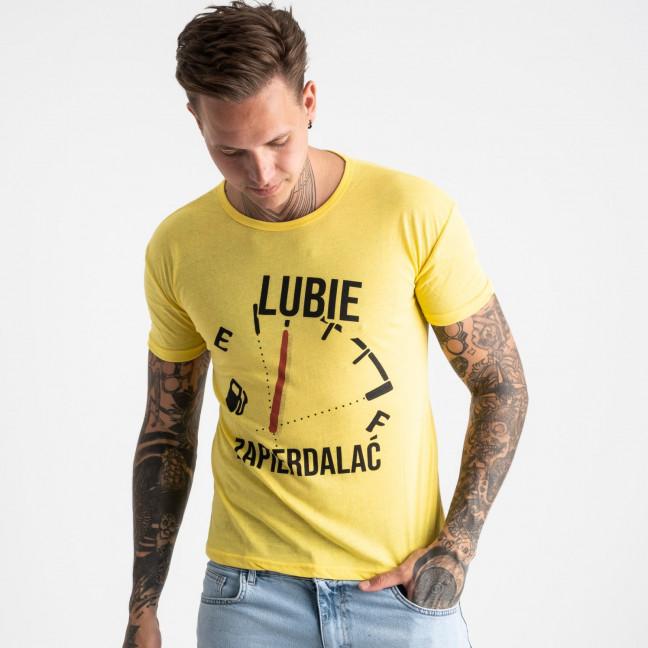 2618-6 желтая футболка мужская с принтом (4 ед. размеры: M.L.XL.2XL) Футболка: артикул 1121039