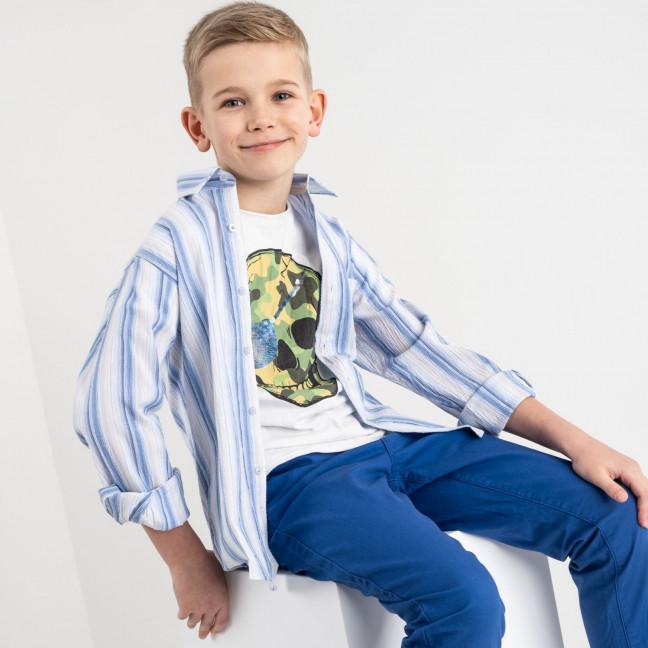 1911 Boston Public белая рубашка в полоску на мальчика 7-15 лет (5 ед. размеры: 30/31.32/33.33/34.34/35.35/36) Boston Public: артикул 1118419