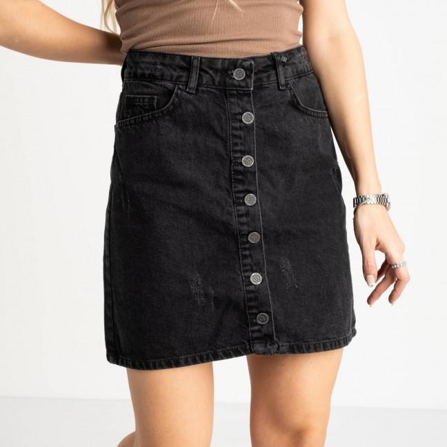 0028-129 Arox юбка полубатальная темно-серая котоновая (6 ед. размеры: 42.44.46.46.48.50) Arox: артикул 1118558