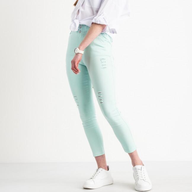 0219-5 Yimeite бирюзовые брюки женские стрейчевые (6 ед. размеры: 25.26.27.28.29.30) Yimeite: артикул 1119601