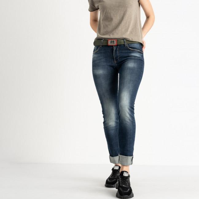 9095-B-5201 Colibri джинсы полубатальные женские темно-синие стрейчевые (7 ед. размеры: 28.29.30.31.31.32.33) Colibri: артикул 1118809