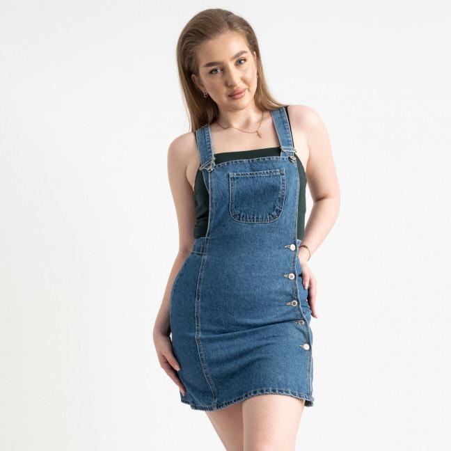 2806-3 Arox сарафан джинсовый полубатальный голубой  котоновый ( 3 ед. размеры: 36/2.40) Arox: артикул 1122044