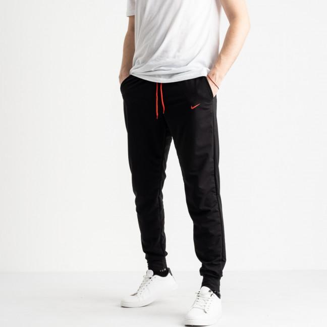 1621-13 черные мужские спортивные штаны из двунитки (4 ед. размеры: M.L.XL.2XL) Спортивные штаны: артикул 1118901