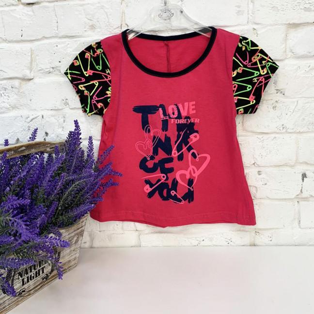 0672-3 футболка на девочку 2-4 года (3 ед. размеры:92.98.104) Маленьке сонечко: артикул 1121814
