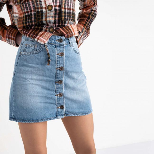 0022-115 юбка джинсовая голубая котоновая  (6 ед. размеры: 34.36.38.38.40.42) Юбка: артикул 1118554