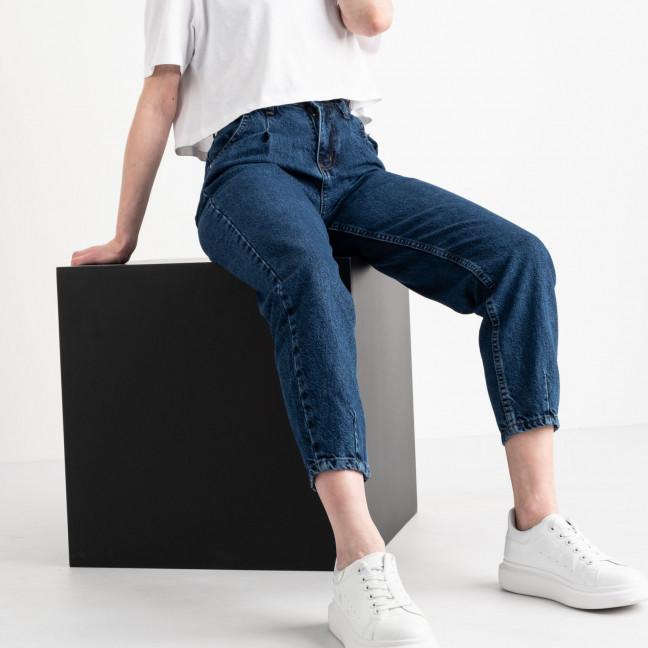 0921 MOM джинсы-баллоны женские синие котоновые (8 ед. размеры: 25.26.26.28.28.30.30.32) MOM: артикул 1119053