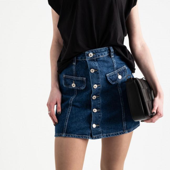 2824 Xray юбка джинсовая на пуговицах синяя котоновая (6 ед. размеры: 34.34.36.36.38.40) XRAY: артикул 1118949