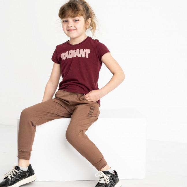 7585-2 мокко спортивные брюки из двунитки на девочку 6-10 лет (5 ед. размеры: 28.30.32.34.36) Спортивные штаны: артикул 1119961