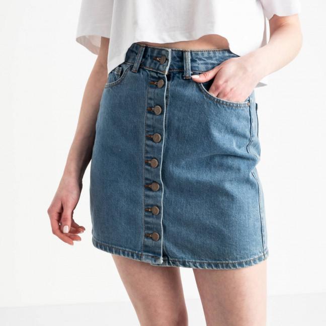 0054 Arox юбка джинсовая на пуговицах голубая котоновая (4 ед. размеры: 34.38.38.40) Юбка: артикул 1118982