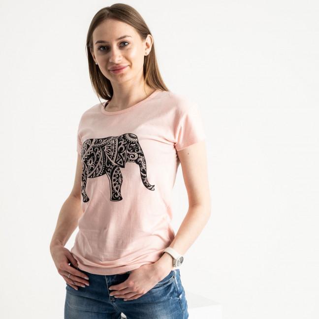 2575-2 розовая футболка женская с принтом (3 ед. размеры: S.M.L) Футболка: артикул 1119168