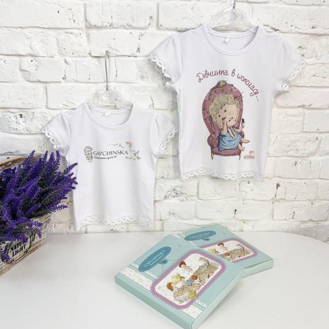 0182-1 футболка на девочку 6-9 месяцев (1 ед. размеры: 74) Маленьке сонечко: артикул 1121796