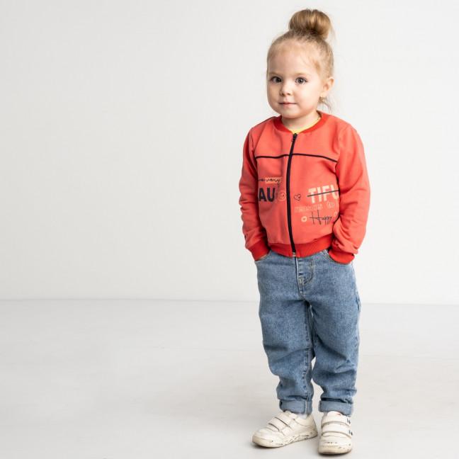 1186 кофта оранжевая на девочку 3-5 лет (3 ед размеры: 98.104.110) Маленьке сонечко: артикул 1121942