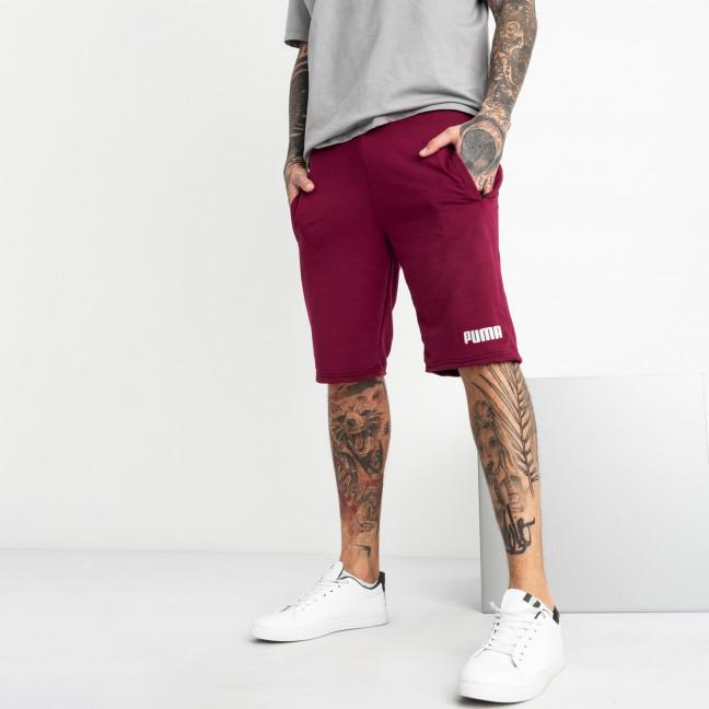 1102-3 бордовые спортивные шорты мужские (5 ед. размеры: 46.48.50.52.54) Шорты: артикул 1120415