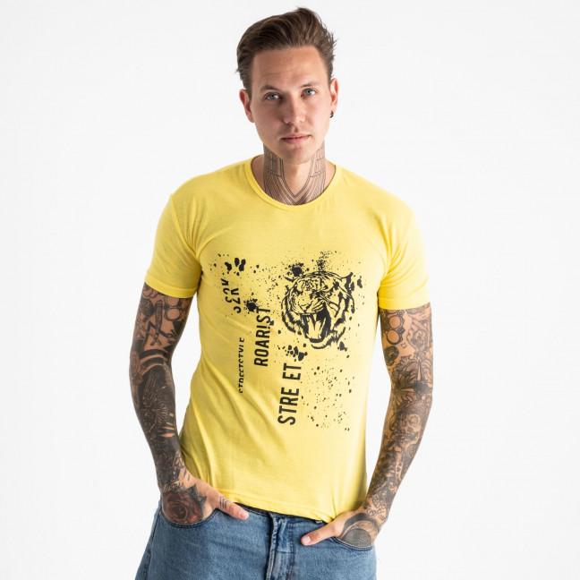 2601-6 желтая футболка мужская с принтом (4 ед. размеры: M.L.XL.2XL) Футболка: артикул 1120891