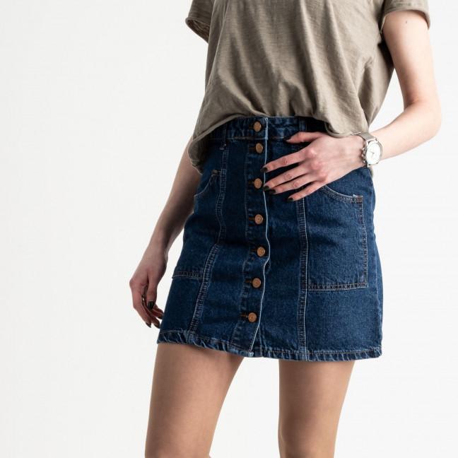 2015 Ponza юбка джинсовая на пуговицах синяя котоновая (7 ед. размеры: 34.34.36.36.38.38.40) Ponza: артикул 1118971