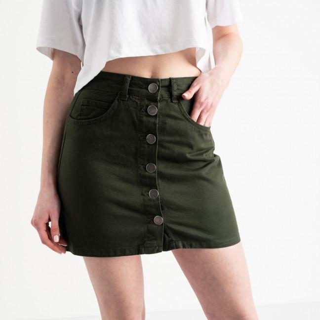 0200-3 Defile юбка на пуговицах хаки котоновая (6 ед. размеры: 34.36.36.38.38.40) Defile: артикул 1118961