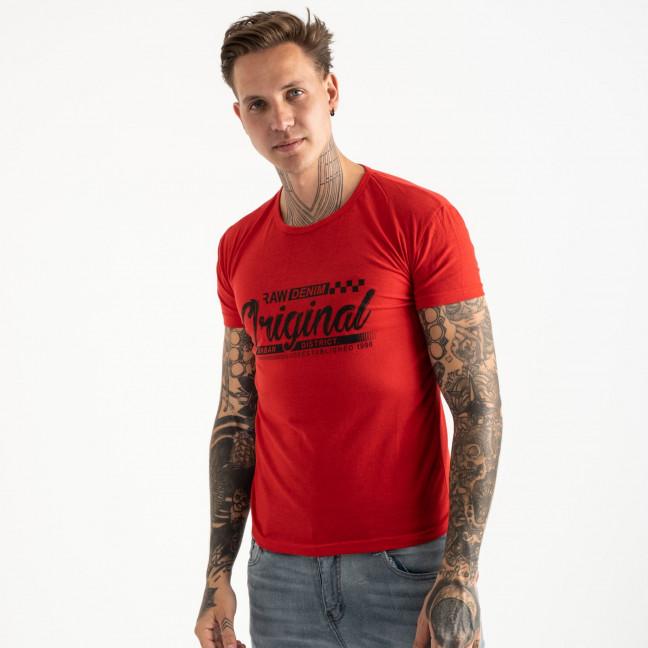 2617-3 красная футболка мужская с принтом (4 ед. размеры: M.L.XL.2XL) Футболка: артикул 1121031