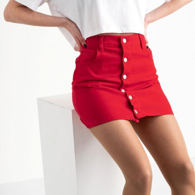 2952-5 Arox юбка на пуговицах красная котоновая (5 ед. размеры: 34.36.36.38.40) Arox: артикул 1119980