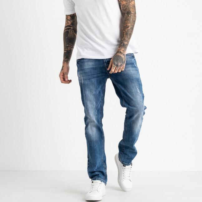 9437 God Baron джинсы мужские синие стрейчевые (8 ед. размеры: 29.30.31.32.33.34.36.38) God Baron: артикул 1119110