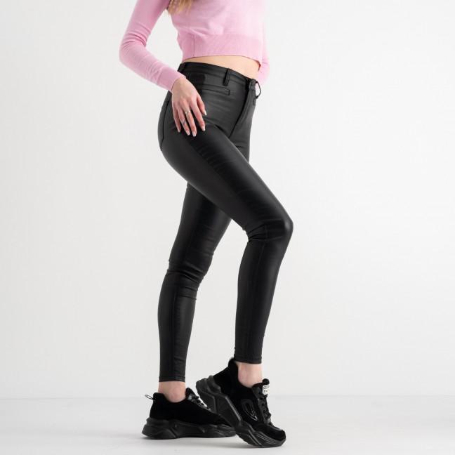 0116 Trang черные брюки женские стрейчевые с пропиткой под кожу ( 5 ед. размеры: 34.36.38.38.40) Trang: артикул 1117507