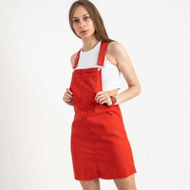 2908 Defile сарафан джинсовый красный котоновый (7 ед. размеры: 34/2.36/2.38/2.40) Defile: артикул 1122025