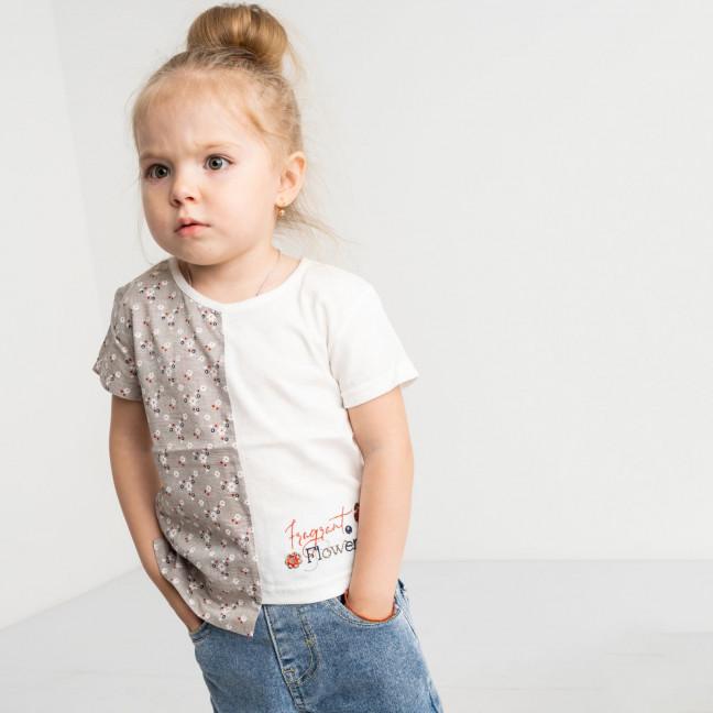 1048-1 футболка детская белая на девочку 1.5-3,5 года (3 ед. размеры:86.92.96 ) Маленьке сонечко: артикул 1121526