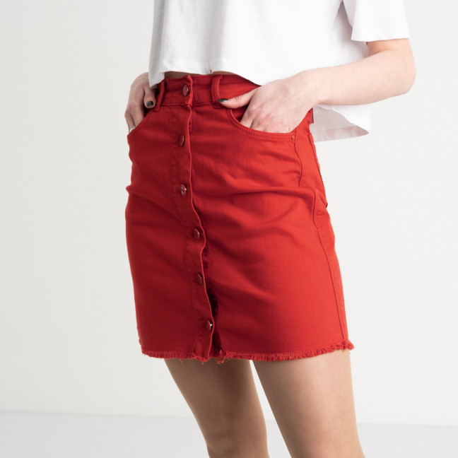 0004-2090 Arox юбка на пуговицах красная котоновая (4 ед. размеры: 34.36.38.40) Arox: артикул 1118954