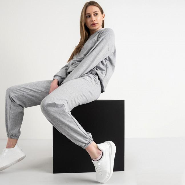 15222-2 серый женский спортивный костюм из двунитки (4 ед. размеры: S.M.L.XL) Спортивный костюм: артикул 1118000