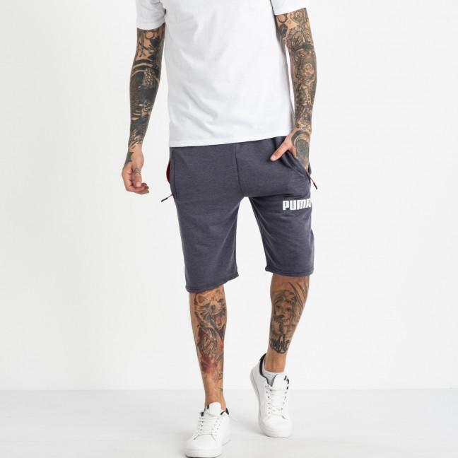 1102-7 индиго спортивные шорты мужские (5 ед. размеры: 46.48.50.52.54) Шорты: артикул 1120259