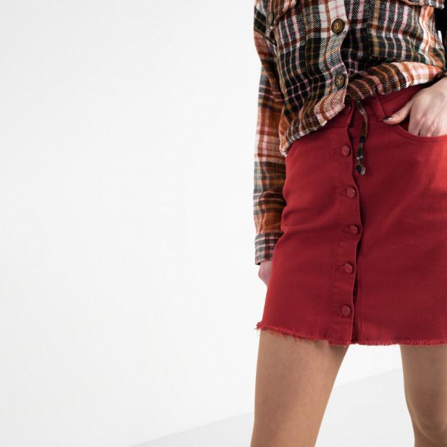 0402-3 Arox юбка джинсовая красная котоновая (3 ед. размеры: 34.36.38) Arox: артикул 1119981