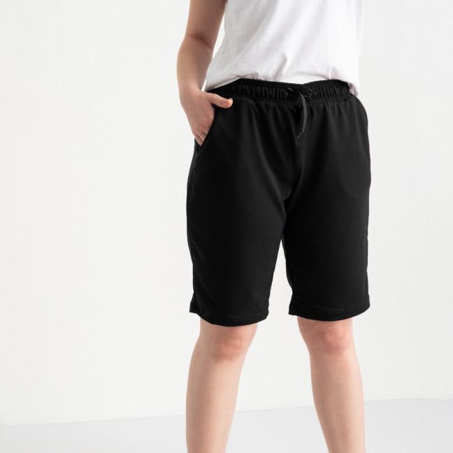 2230-01 Mishely шорты черные женские батальные из двунитки ( 3 ед. размеры: 50.52.54) Mishely: артикул 1123533