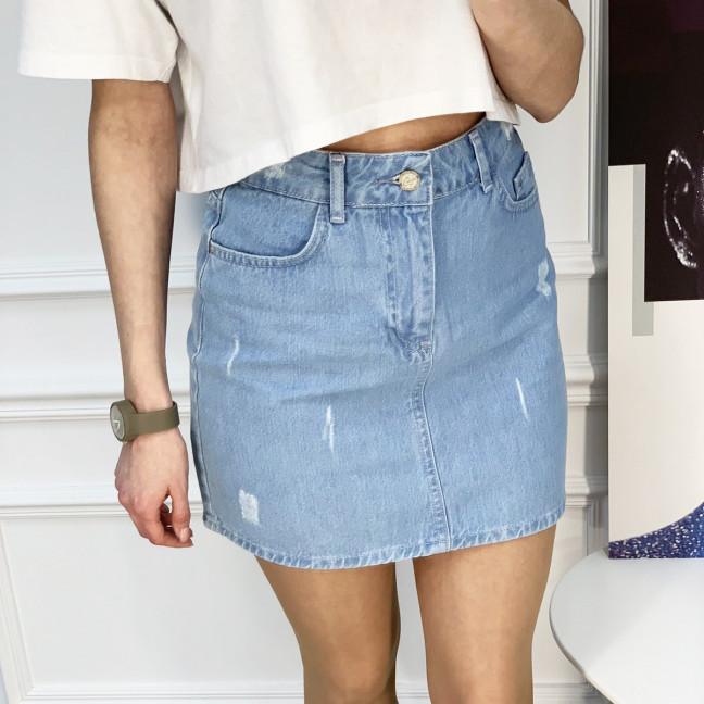 0032-122  Arox юбка джинсовая голубая котоновая (6 ед. размеры: 34.36.38.38.40.42) Юбка: артикул 1118986