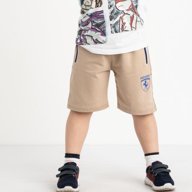 1653 шорты детские на мальчика 6-10 лет бежевые трикотажные (5 ед. размеры: 40.42.44.46.48) Шорты: артикул 1120450