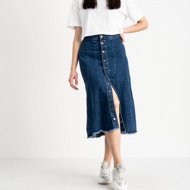 1206-2 юбка длинная синяя котоновая (2 ед. размеры: XS.M) Юбка: артикул 1118853