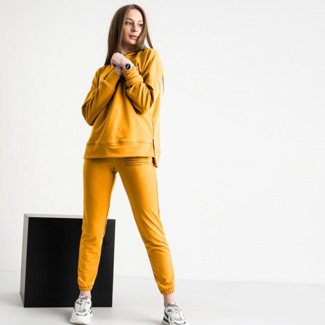 15115-13 Mishely желтый женский спортивный костюм из двунитки (4 ед. размеры: S.M.L.XL) Mishely: артикул 1119930