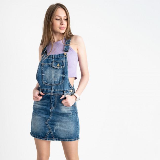 0334-1 Relucky сарафан джинсовый голубой котоновый (6 ед. размеры: 25.26.27.28.29.30)  Relucky: артикул 1121951