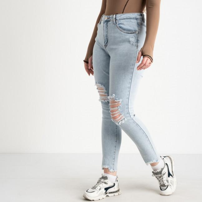 0505-1 Monkey Ride Jeans американка полубатальная голубая стрейчевая ( 6 ед. размеры: 27.28.29.30.31.32) Monkey Ride: артикул 1122411