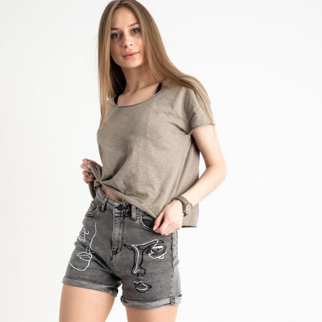 1021 H&B шорты женские серые стрейчевые (6 ед. размеры:26.27.28.29.30.31) H&B: артикул 1122336
