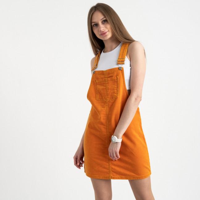 2905 Defile сарафан велюровый оранжевый стрейчевый ( 6 ед. размеры: 34.36/2.38/2.40) Defile: артикул 1122039