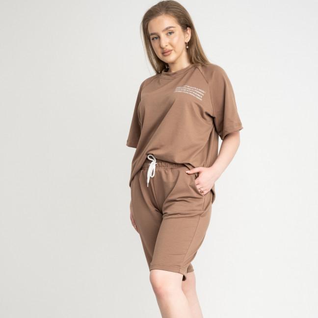 2215-9 Mishely мокко женский спортивный костюм батальный из двунитки  (4 ед. размеры: 50.52.54.56) Mishely: артикул 1122664