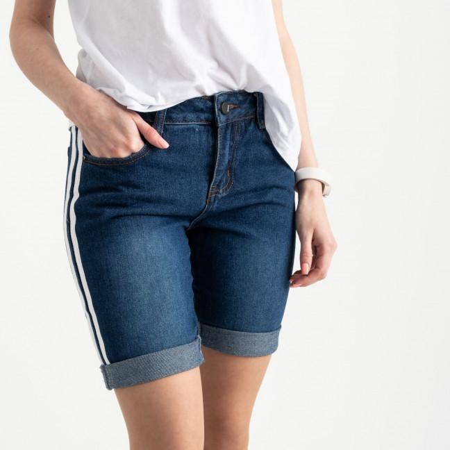 2357 Jushioumfiva шорты джинсовые с белыми лампасами котоновые (6 ед. размеры: 25.26.27.28.29.30) Jushioumfiva: артикул 1122143