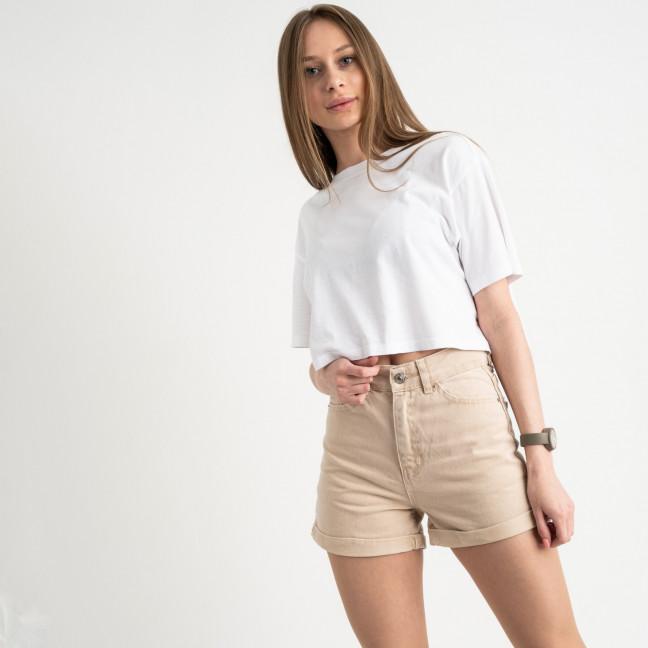 3402 шорты джинсовые бежевые котоновые ( 8 ед. размеры: 25/2.26/3.28/2.30) Шорты: артикул 1122197