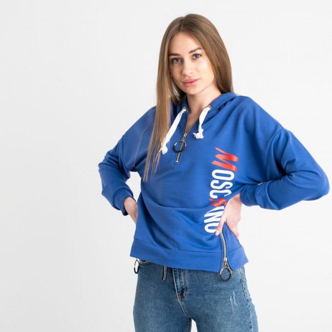 6403 синий батник женский из двунитки (4 ед. размеры: 42.44.46.48) Батник: артикул 1117591