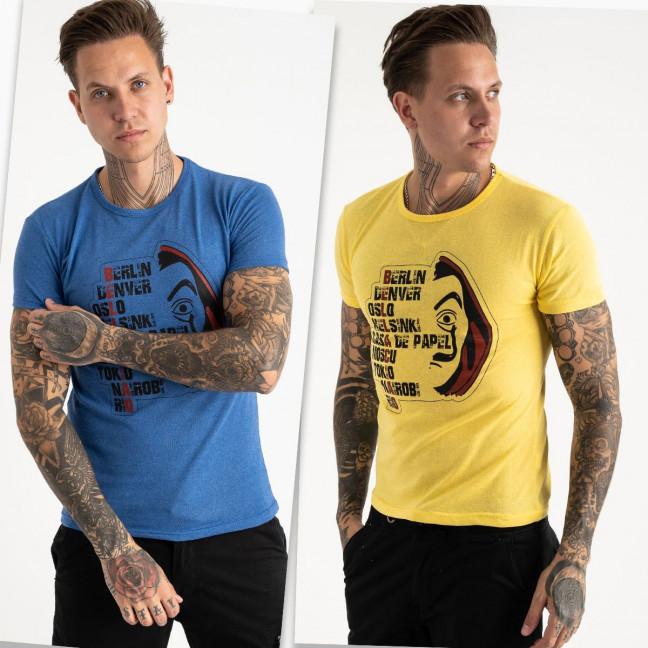 2629-99 футболка мужская с принтом микс 2-х цветов (4 ед. размеры: M.L.XL.2XL) Футболка: артикул 1121100