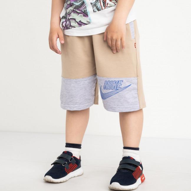 1650 шорты детские на мальчика 6-10 лет бежевые трикотажные (5 ед. размеры: 40.42.44.46.48) Шорты: артикул 1120447