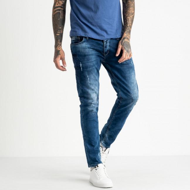 0008 Fashion Mario джинсы мужские синие стрейчевые (8 ед. размеры: 29.30.31.32.32.33.34.36) Fashion Mario: артикул 1117888