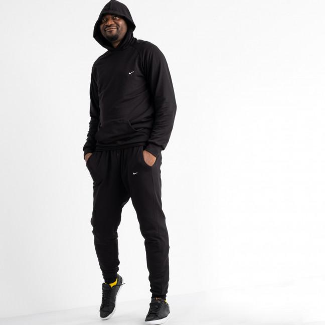 16218-1 черный мужской спортивный костюм из двунитки (4 ед. размеры: M.L.XL.2XL) Спортивный костюм: артикул 1118144