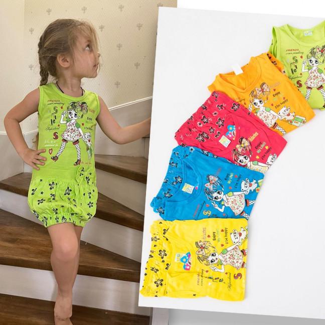 1624 платье на девочку 2-6 лет с принтом микс из 5-ти цветов (10 ед. размеры: 2-10) Платье: артикул 1120133